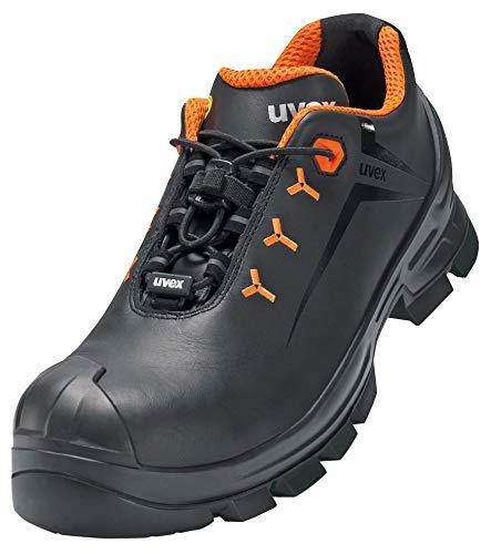 Uvex 2 Vibram Arbeitsschuhe - Sicherheitsschuhe S2 SRC ESD - Orange-Schwarz - Weite 14 / Extra Breit, Größe:35