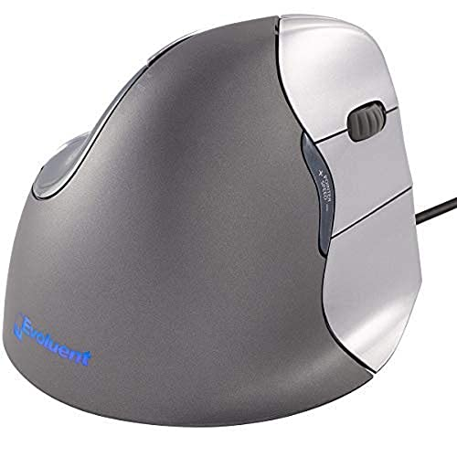Evoluent VM4R VerticalMouse 4 Right Hand Ergonomic Mouse with Wired USB Connection (Regular Size.) The Original VerticalMouse Brand Since 2002