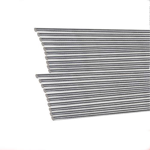 SOFIALXC Varilla Lineal Rodamiento Redondo Recto Cilindro De Acero Eje Ferroviario Acero Inoxidable-Diameter2.5mm Long50cm 20pcs