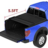oEdRo Quad Fold Tonneau Cover Soft Four Fold Truck Bed Covers Compatible with 2009-2014 Ford F-150 F150 5.5' Bed, Styleside