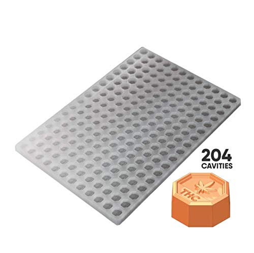 Amazing Deal Octagon Candy Silicone Mold Canada Regulatory Symbol 1.2mL Piece 204pc FOOD GRADE PLATI...