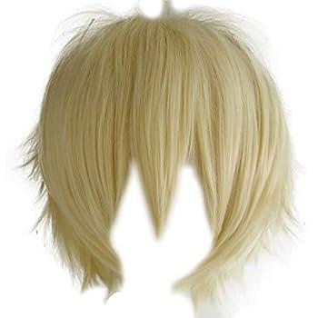 Aicos Probeauty Unisex Basic Short Hair Wig/Wigs Cosplay Party+Wig Cap  Blonde