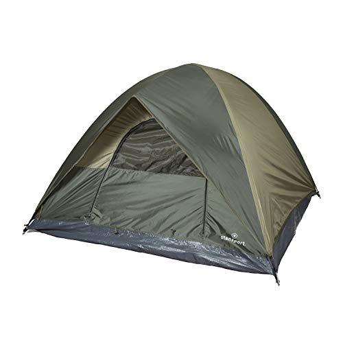 Stansport Hunter Series Trophy Hunter Tent (Forest Green/Tan, 7-Feet X 7-Feet X 54-Inch)