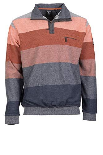 hajo Herren Sweatshirt Troyer-Zip Stay Fresh XXL