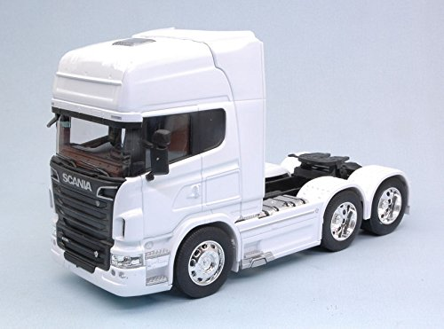 SCANIA R730 V8 (6x4) 2015 WHITE 1:32 - Welly - Camion - Die Cast - Modellino