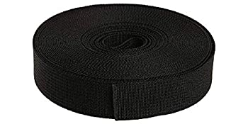 Strapworks Military Spec Flat Nylon Webbing – MilSpec 17338 Strap for Slings Backpack Straps Tactical Projects – Made in The USA 1 Inch x 10 Yards Black