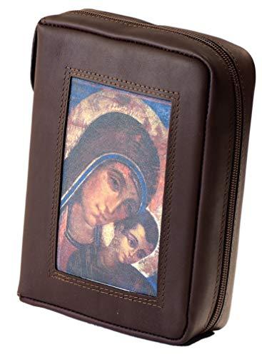Adriatica Pelletteria Custodie in Pelle per Bibbia di Gerusalemme EDB, Marrone,