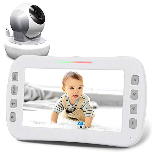 "DBM-TOR 5"" HD Video Baby Monitor & Digital Camera, Hi-res Camera, Remote Zoom, Two-Way Audio, Night-Vision,Temperature Monitoring, Long Range, Baby Care Nanny for Baby/Elder/Pet"