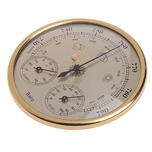 Hoge Nauwkeurigheid Muur Gemonteerd Barometer thermometer Hygrometer Drukmeter Luchtweerinstrument Goud