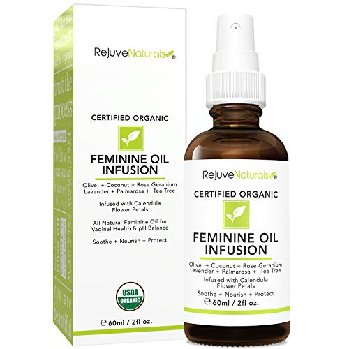 100% All Natural & Organic Feminine Oil Spray Treats Symptoms of Yeast Infections, BV & Candida Fast! Yoni Oil for Vaginal Health & pH Balance. Calms Burning & Itching, Reduces Odor. 2oz Glass Bottle
