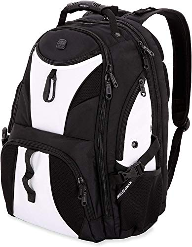 SWISSGEAR 1900 ScanSmart Laptop Backpack- White/Black