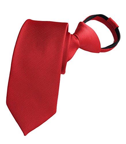 Elfeves Men Chrrey Red Neckties Vintage Silk Cravat Woven Best Bridegroom Ties