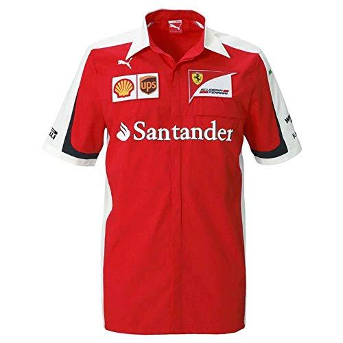 F1 SCUDERIA Puma Fußballtrikot, offizielles Ferrari Team-Shirt für Erwachsene und 100% Baumwolle, Herren, Ferrari Shirt Puma, rot, Größe S