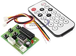 DC 4V-6V Stepper Motor Driver Controller Integrated Board 2-Phase 4-Wire Speed Adjustable with Remote Control