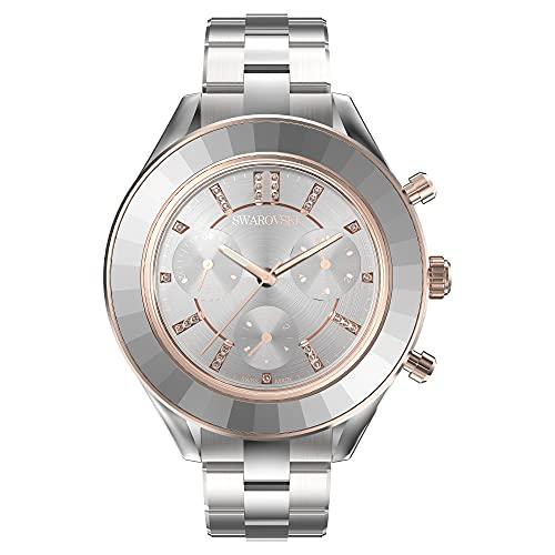 Swarovski Octea Lux Sport Watch, Metal Bracelet, White, Stainless Steel 5610494