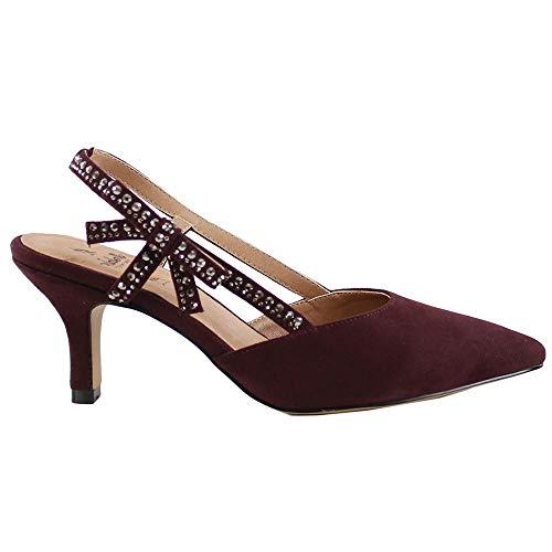EL CABALLO Zapato de Fiesta Istán, Mujer, Rojo, 38 EU