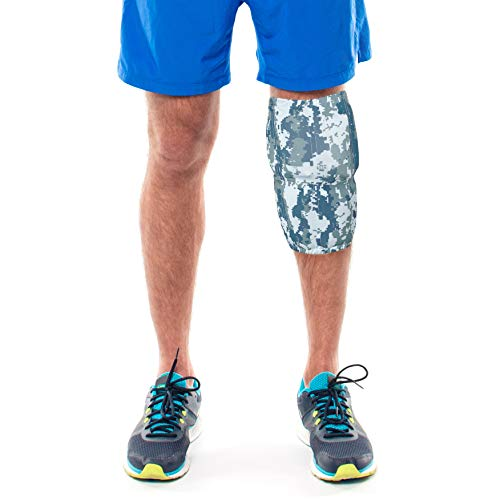 HurtSkurt - 2 in 1 - Harness-Free Fashionable Cold Therapy Compression Gel Sleeve & Ice Pack Stretch-to-Fit Medium (Seal Team)