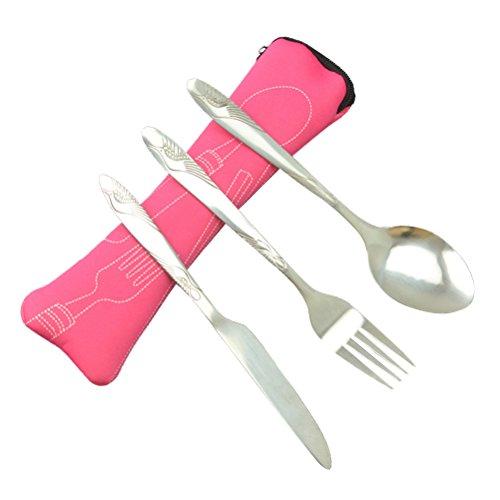 Joyfeel acheter Cute Mouse Style Bol PP Mat/ériau solide Couleur Vaisselle avec cuill/ère Fourchette Couverts Set-pink