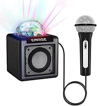 Earise Karaoke Machine with Wired Microphone