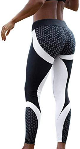 Damen Hosen, DEEWISH Frauen Leggings Hose | Yogahose | Sport-Leggings | Jogginghose 3D Printed Strumpfhose Leggins Hose Strumpfhose Workout Stretch Yoga Hosen (XL, Schwarz)