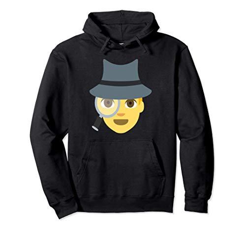 Emoji Spy Sleuth Cute Detective Inspector Lupe Pullover Hoodie