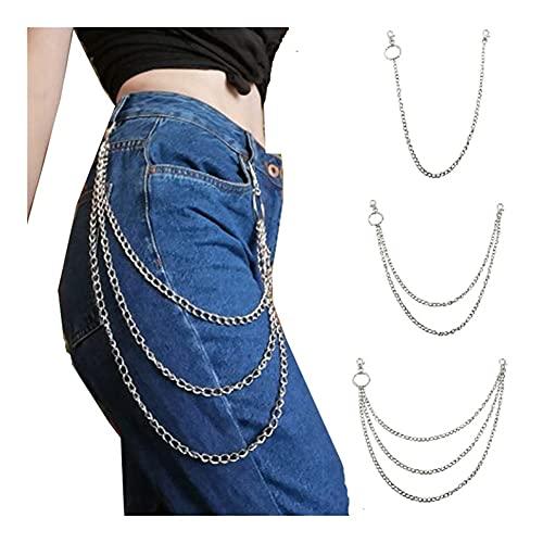 3本パンツチェーン、バイカーチェーン、ファッションデコレーション、パンクパンツチェーン、ウォレットチェーン、ベルトチェーン、ファッションヒップホップパンツチェーン、二本鎖一本鎖三本鎖