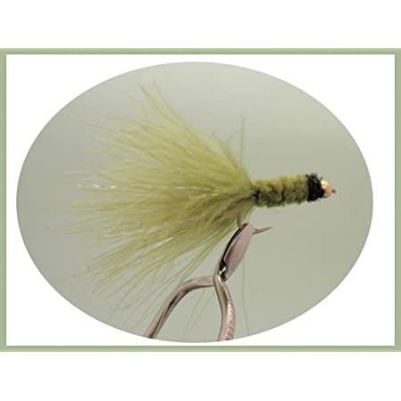 For Fly Fishing Tadpole Trout Flies 6 Pack Goldhead White Tadpole Size 10