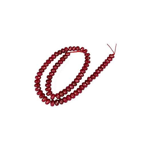 Rrunzfon Bricolaje Grano cristalino de la Pulsera de la Piedra Preciosa del Grano Redondo de Pulsera con Estilo, Joyas de Moda al Día de Acción de Gracias San Valentín