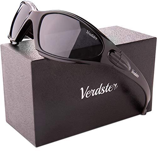 Verdster Gafas de sol POLARIZADAS Airdam Para Hombres – Aptos para Conducir, Pescar e Ir en bicicleta – Montura Envolvente Cómoda con Protección UV – Incluye un estuche, funda y un pañuelo