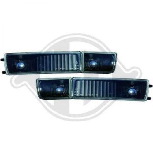 phares anti-brouillard design, set, noir, avec clignotant GOLF 3 de 1991 à 1997 cristal/noir avec feu clignotant , écran