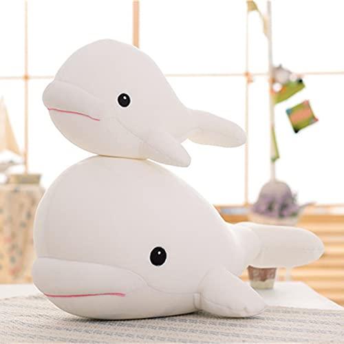 LYXBWT Mascota Linda Ballena Blanca Suave Juguete de Felpa muñeca delfín muñeca Regalo para niños 26 cm Blanco