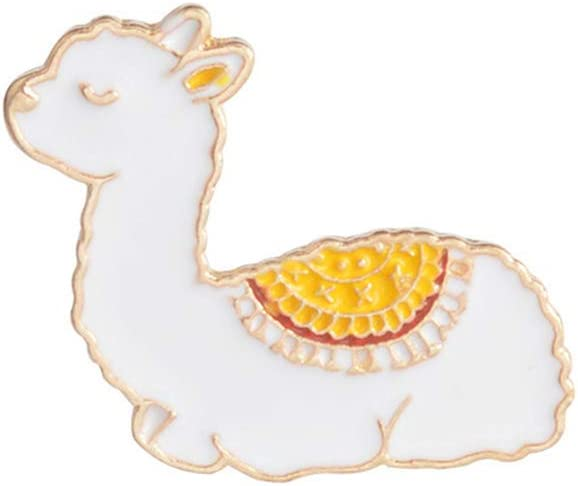 TraveT Cartoon Baby Llama Metal Brooch Cute Animal Enamel Pins Alpaca Badge Pin Fashion Brooches Lapel Pin for Women Men
