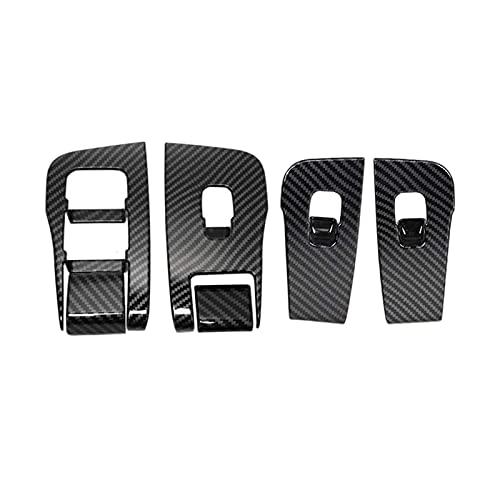 JIS Etiquetas engomadas de protección modificadas para Evitar rasguños y Golpes en el Panel Elevador de Fibra de Carbono Adecuado para Tesla Modelo 3 (Color : Carbon Fiber Pattern)