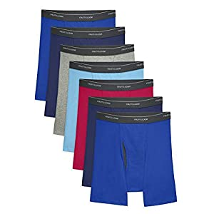 Fruit of the Loom Men's Coolzone Boxer Briefs, 7 Pack-Assorted Colors, Large