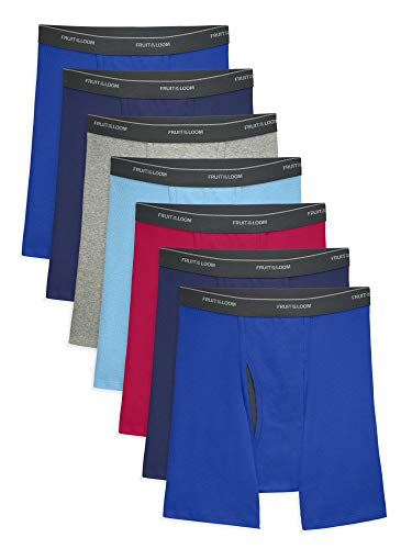 Fruit of the Loom Men's Coolzone Boxer Briefs, 7 Pack - Assorted Colors, Large