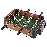 WGLL Mesa Fútbol,Mini Mesa de Madera Top Fútbol Fourball Family Fun Game -El Juego de fútbol Interior y al Aire Libre Incluye 12 Hombres Mesa de Futbol