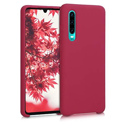 kwmobile Custodia Compatibile con Huawei P30 - Cover in Silicone TPU - Back Case per Smartphone - Protezione Gommata Fucsia Matt