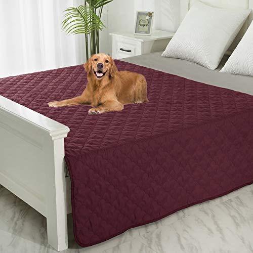 SPXTEX - Manta para mascotas, a prueba de orina, para sofá, cama, suave, reversible, protector de muebles, resistente a líquidos,...