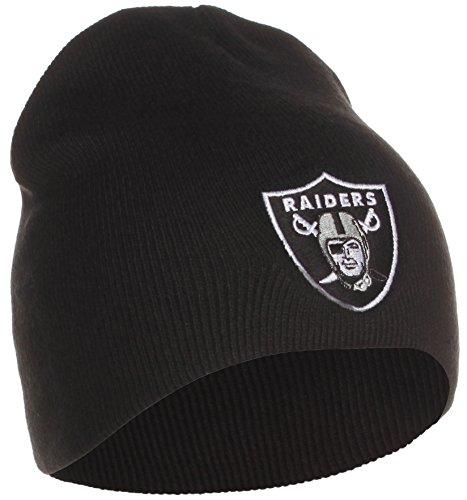 Reebok Oakland Raiders - Gorro de punto para invierno, color negro