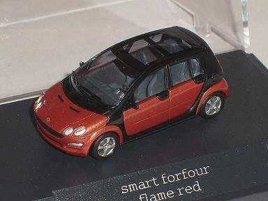 Smart For Four Forfour For 4 Rot Red Ho H0 1/87 Busch Modellauto Modell Auto
