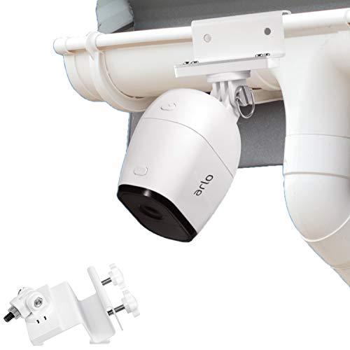 Wasserstein wetterfeste Regenrinnenhalterung kompatibel mit Arlo Pro, Arlo Pro 2, Arlo Ultra und Arlo HD - Bessere Platzierung für besseren Schutz (Weiß)
