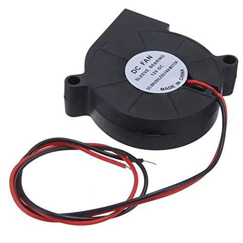 SUNTAOWAN Accesorios de la Impresora 3D, Impresora 3D 12V DC 3 Piezas de 50 mm * 50 mm Blow Radial de refrigeración del Ventilador Impresora