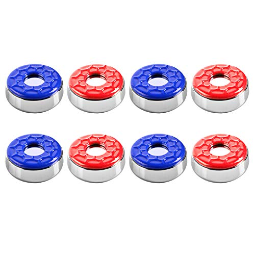 IdealEnjoy Shuffleboard Pucks 2-1/8''(53mm),Set of 8(red&Blue)