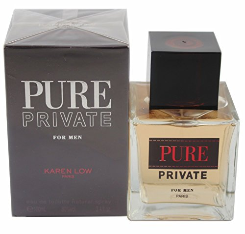 Pure Private by Karen Low, 3.4 oz EDT Spray for Men
