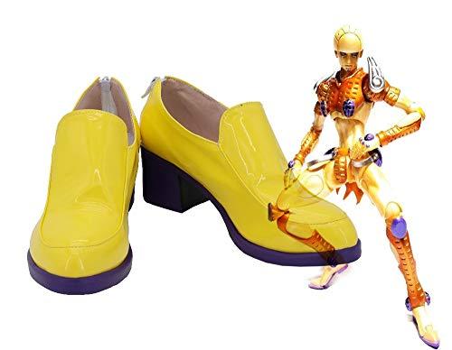Bizarre Adventure Golden Wind Giorno Giovanna Cosplay zapatos botas para hombres por encargo tamaño europeo 43