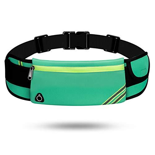 TAGVO Cinturón Deportivo con Parche Reflectante, Deportivo Riñoneras para Deportes al Aire Libre Equitación Gimnasio Ejercicios Yoga - Tamaño Universal