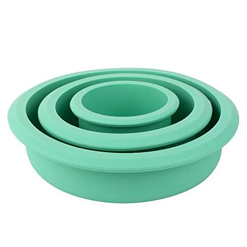 Set mit 3 runden Kuchenformen, 20,3 cm, 15,2 cm, 7,6 cm, Antihaft-Silikon-Backform, Kuchenform für Schichtkuchen, Käsekuchen