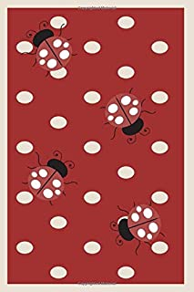 Ladybug Journal: Dual Notebook with Blank and Lined pages-each page has varying designs with ladybugs. Use for creative writing/sketching or note taking; appropriate for all ages. Red Dots/4 Ladybugs