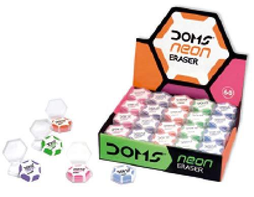 Doms Neon Eraser in Plastic Pack (Pack Of 60)