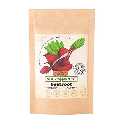Nourisharvest Raw Beetroot Powder – puur geconcentreerd plantenpoeder – essentiële voedingsstoffen. Geen toegevoegde…
